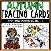 Autumn Words Tracing Cards