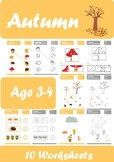 Autumn Worksheets Age 3-4