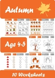 Autumn Worksheets Age 4-5