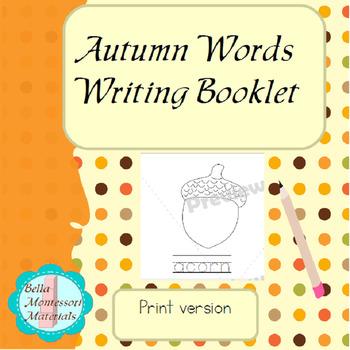 Autumn Write...& Read & Color Booklet Pages