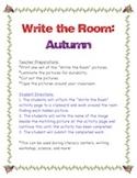 Autumn-Write the Room Activity