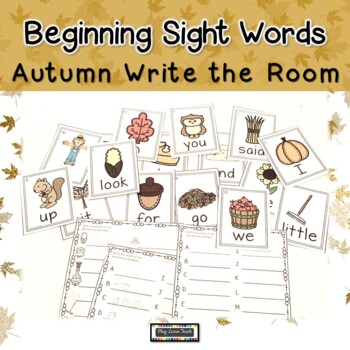 Sight Words Autumn Write the Room