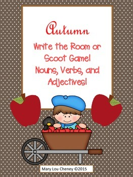 Autumn Write the Room or Scoot Game