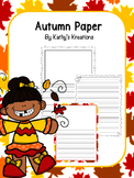 Autumn Writing Paper