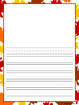 Autumn Writing Paper