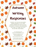 Thanksgiving Reading and Writing Responses