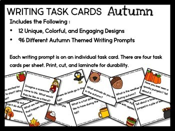 Autumn Writing Task Cards