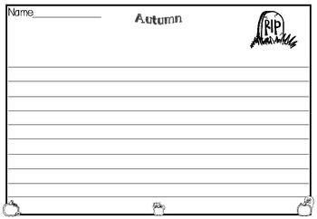 Autumn/Fall Writing Templates