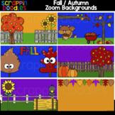 Autumn Zoom Backgrounds {Scrappin Doodles Clip Art}