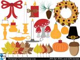 Autumn and Fall Decorations Digital Clip Art Graphics 49 images cod32