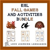 Autumn and Fall Games and Speaking Activities Bundle - ESL