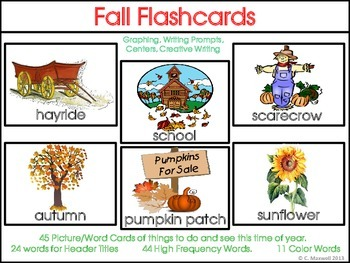 autumn and fall picture word flashcards word cards and activities