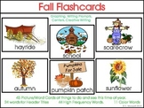 Autumn and Fall Picture Word Flashcards, Word Cards, and A