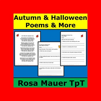 Autumn and Halloween Poems Packet