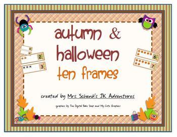 Autumn and Halloween Ten Frames