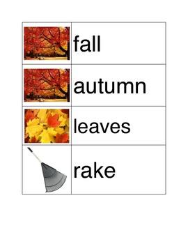 Autumn and Halloween Vocabulary
