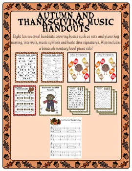 Autumn and Thanksgiving Music Handouts