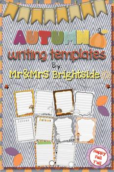 Autumn and Thanksgiving Writing Templates