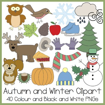 Autumn and Winter Clipart