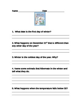 Autumn and Wintertime--Text Evidence
