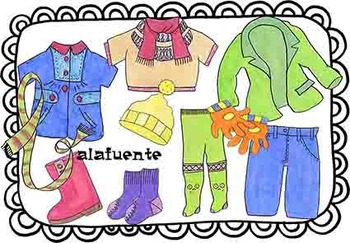 Autumn and winter clothes clip art