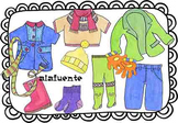 Autumn and winter clothes clip art