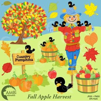 Autumn Clipart, Harvest, Scarecrow clipart, Fall clipart, AMB-147
