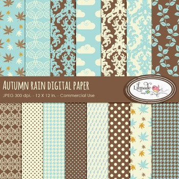 Autumn digital papers, Fall digital papers