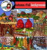 Autumn/fall Backgrounds Clip Art