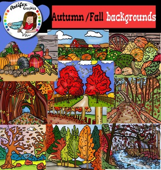 Autumn/fall Backgrounds Clip Art