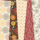 Fall floral Digital Paper patterns - Autumn flower backgrounds