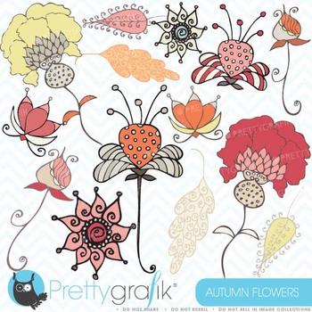 Autumn flowers clipart commercial use, vector graphics, digital clip art- CL395