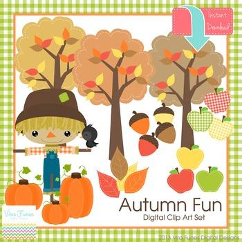Autumn fun Digital  clip art Clipart Collection
