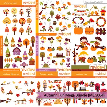Autumn fun clip art mega bundle (9 packs)