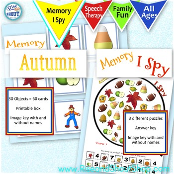 Autumn games, bundle: Shout Out, X-out, I Spy, Memory