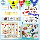 Autumn games, bundle: Shout Out, X-out, I Spy, Memory