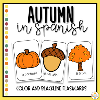 Autumn in Spanish Flashcards - El Otoño