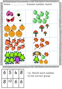 Autumn number match