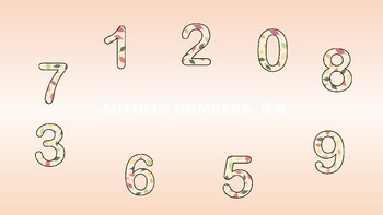 Autumn numbers 0-9