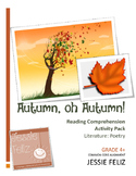 Autumn, oh Autumn! 4th Grade Poetry Lesson Activity Pack (