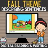 Autumn or Fall Descriptive Sentences Writing Activity for