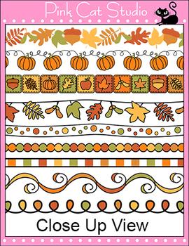 Borders - Autumn or Fall Frames / Borders Clip Art - Commercial Use Okay