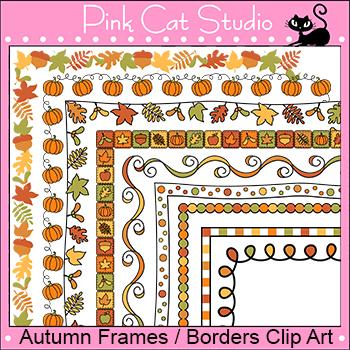 Borders - Autumn or Fall Frames / Borders Clip Art - Comme