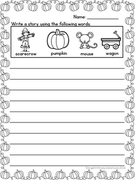 Autumn or Fall Vocabulary Activities