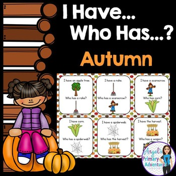 Autumn or Fall Vocabulary Game:  I Have...Who Has...