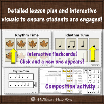 Elementary Music Lesson ~ Autumn's Here: Orff, Composition, Melody and Rhythm