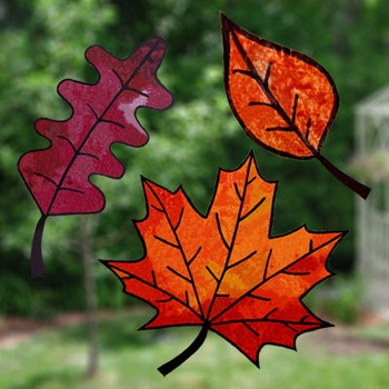 Autumn stained glass craft