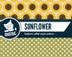 Autumn sunflower digital papers sunflower fall patterns