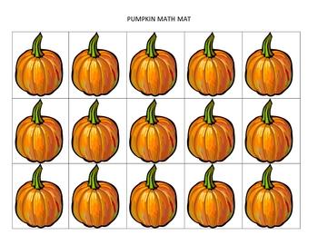Autumn-themed math mats for preschool and K/1st grade