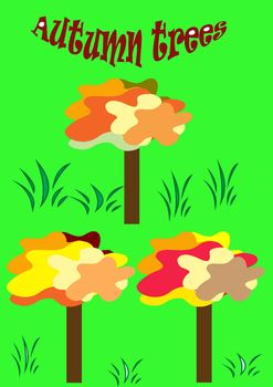 Fall - trees - Clip Art - Personal or Commercial Use